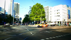 Doctor Rescue wagon Ambulance Emergency Medical wagon Frankfurt am Main Germany Stock Footage