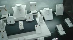Jewelry Showcase Stock Footage