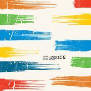 Artwork with Color Strip Background Stock Illustration