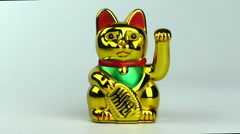Gold Money Cat Stock Footage