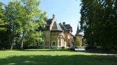 4K Villa Rothschild Kempinski Königstein Taunus Hessen near Frankfurt am Main Stock Footage