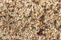 Dry muesli as background Stock Photos