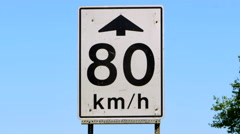 4K Speed Limit Sign, Road Highway Traffic Signage, White Stock Footage