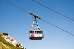 Cable car in the alps of Bavaria Kuvituskuvat