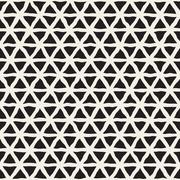 Vector Seamless Hand Drawn Triangle Lines Grid Pattern Stock Illustration