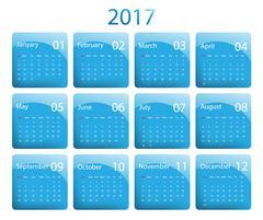 Vector calendar for 2017 Stock Illustration