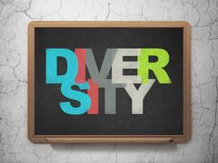 Business concept: Diversity on School board background Stock Illustration