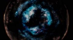 Cosmic supernova explosion Stock Footage