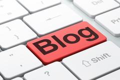 Web design concept: Blog on computer keyboard background Stock Illustration