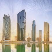 Business bay and Lake Tower, Dubai UAE Kuvituskuvat