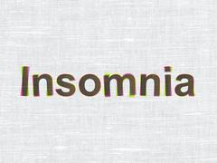 Healthcare concept: Insomnia on fabric texture background Stock Illustration