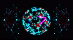 Glowing Triangle Sphere Stock Footage