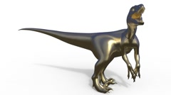 Velociraptor front view 3d rendering Stock Footage