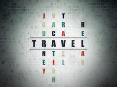 Tourism concept: Travel in Crossword Puzzle Stock Illustration
