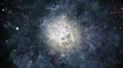 Into the galaxy - stock footage