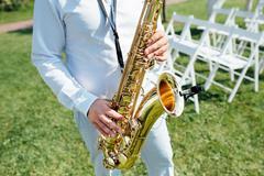 Saxophone player jazz music instrument Saxophonist Kuvituskuvat