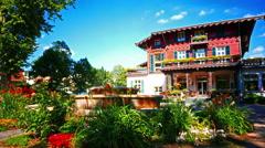 4K Villa  Borgnis Spa restaurant event in Park  Königstein Taunus Hessen near Stock Footage