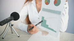 Business Lecture With Charts Stock Footage