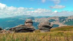 Big Rocks on Carpathians Mountains,Babele,Romania Stock Footage