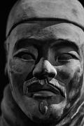 Close Up of Replica Terracotta Warrior - stock photo