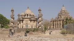 Mahabat Maqbara mausoleum,Junagadh,India Stock Footage