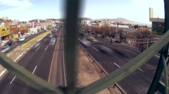 Traffic city fast stress view from pedestrian bridge hyperlapse Stock Footage