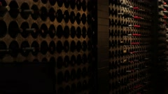 Wine Cellar Interior Victorian Gothic Revival Style Pan Stock Footage