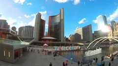Toronto timelapse at city hall Stock Footage