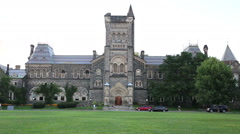 University of Toronto campus in Toronto Canada Stock Footage