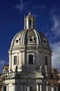 Italy, Rome, Roman Forum, view of the Santissimo Nome di Maria al Foro Church Stock Photos