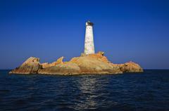 Italy, Sardinia, Maddalena archipelago, lighthouse Stock Photos