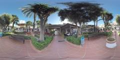 4K 360VR video, Spain La Manga unique sea foreland resort views. - stock footage