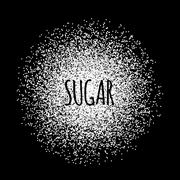Sugar made of white dots. Stock Illustration