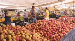 Local market products and sellers Stock Footage