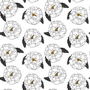 Natural Seamless Pattern Background from Tagetes Flowers Vector Stock Illustration