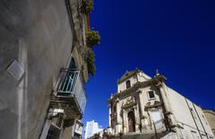 Italy, Sicily, Ragusa Ibla, the baroque facade of a church Kuvituskuvat