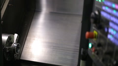 Horizontal milling machining center with CNC and replaceable tools, processes Stock Footage