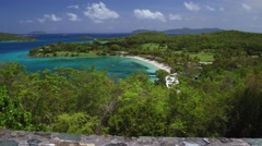 View of Caneel Bay, St John Stock Footage