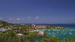 View of Cruz Bay, St John Stock Footage