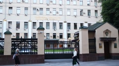 The building of the General Prosecutor of the Russian Federation Stock Footage