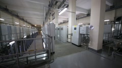 Room for the purification of waste water using ultraviolet Stock Footage