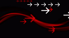 Dark red waves and arrows video animation Stock Footage