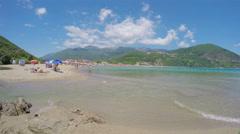 Montenegro - 29 JUN, 2016: Jaz beach time lapse Stock Footage