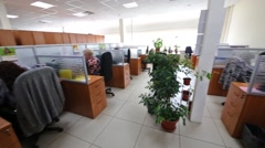 Workplace with a partitions in Moscow city telephone network. Stock Footage