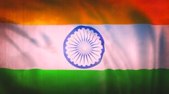 India Flag Grunge Stock Footage