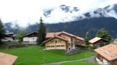 Scenic View from Cogwheel Train Lauterbrunnen Stock Footage