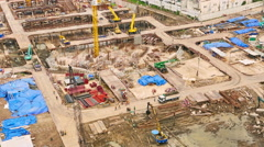 Construction site in Bangkok Stock Footage