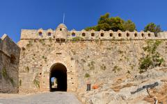 Rethymno Fortezza fortress main gate Stock Photos