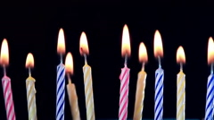 Birthday candles burning Stock Footage