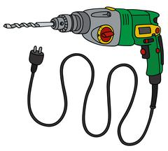 Green impact drill Stock Illustration